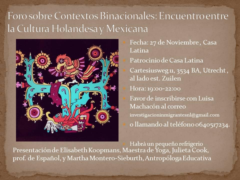 2015 Nov. Foro Cultural